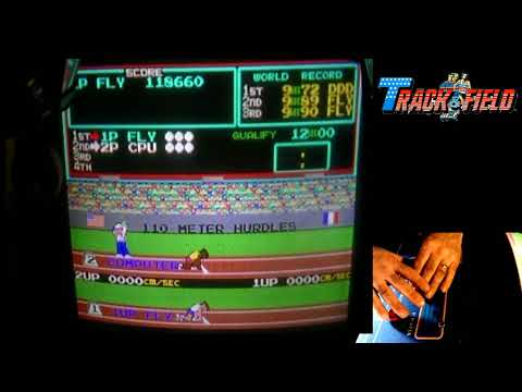 Track & Field Arcade 1 Man World Record Practice 5.2 million