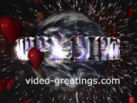 happy birthday message animated with custom text youtube