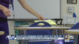 Education spending is down, dropout rate is up