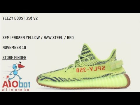 Tips To Help You Buy The YEEZY 350 V2 Semi Frozen Yellow / Yebra On Release Day