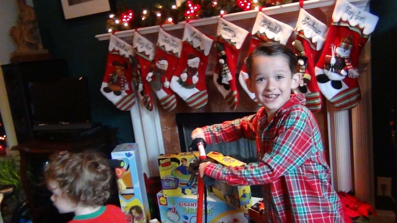 Controlled Chaos of Christmas Morning 2016- SANTA CAME ...