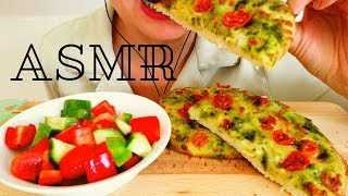ASMR FOCACCINI AND FRESH SALAD (CRUNCHY EATING SOUNDS) NO TALKING