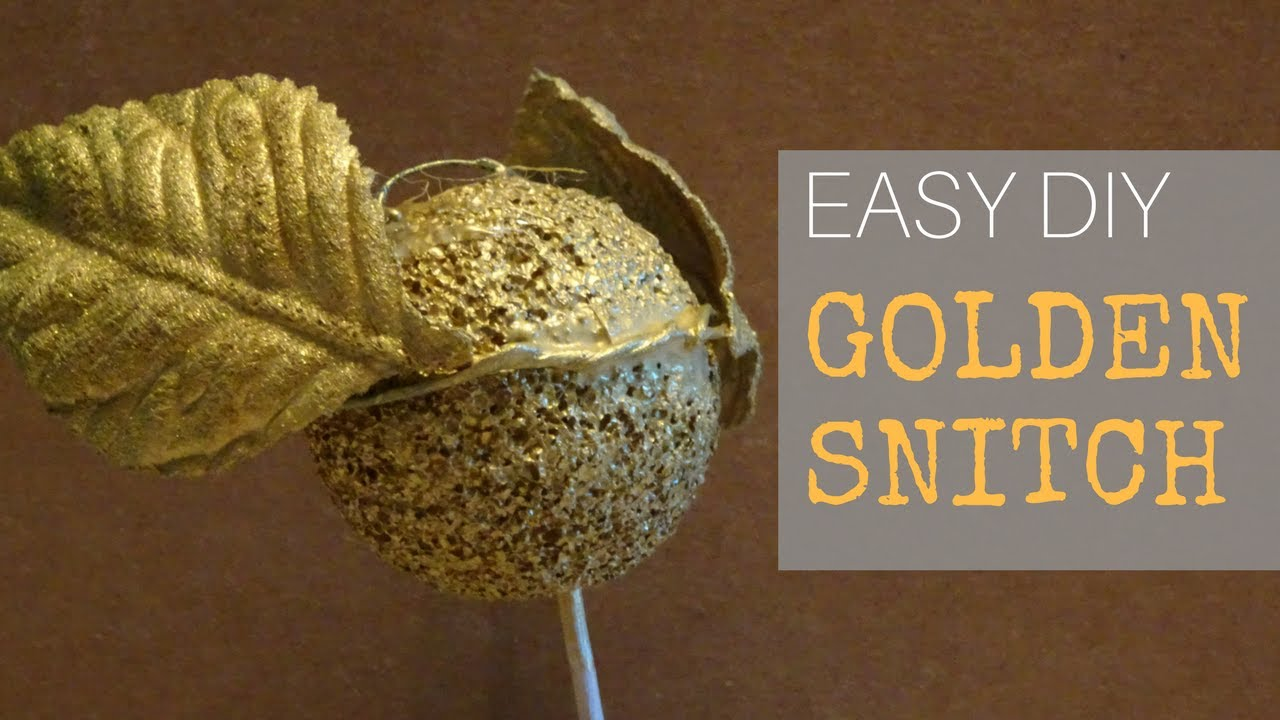 Easy DIY Golden Snitch With Movable Wings