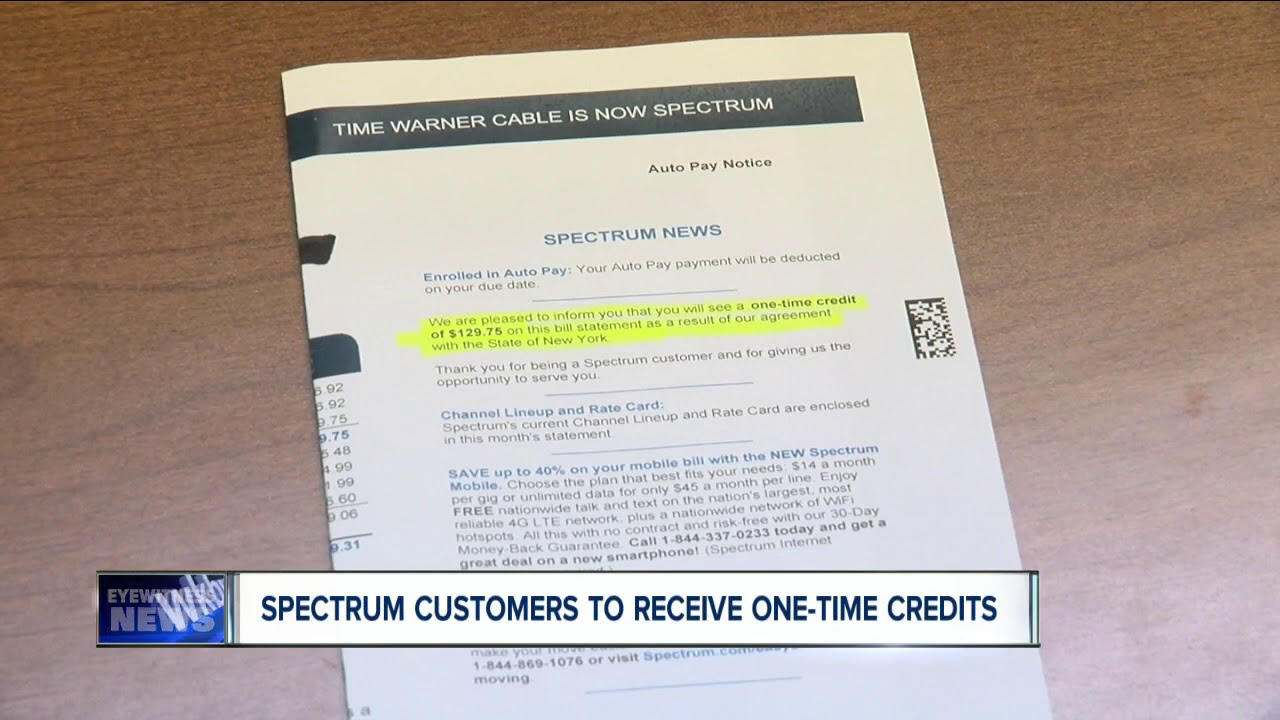 Check your bill! Spectrum is paying New York customers back with one-time  credits
