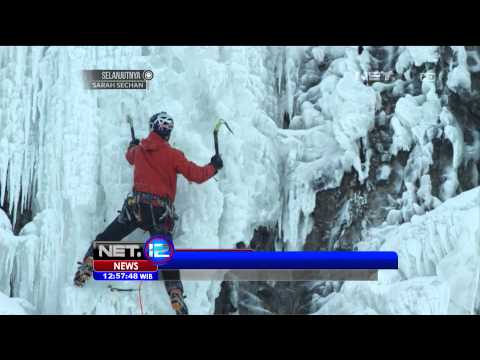 Will Gadd Mendaki Tebing Es di Air Terjun Niagara - NET12