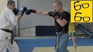 Комбинации ударов на шагах в кудо с Василием Глебовым — связки