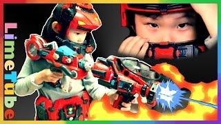거실에 불이 났어요~! 강철소방대 파이어로보 거대 서프라이즈 에그 장난감 놀이 LimeTube & Toy 라임튜브