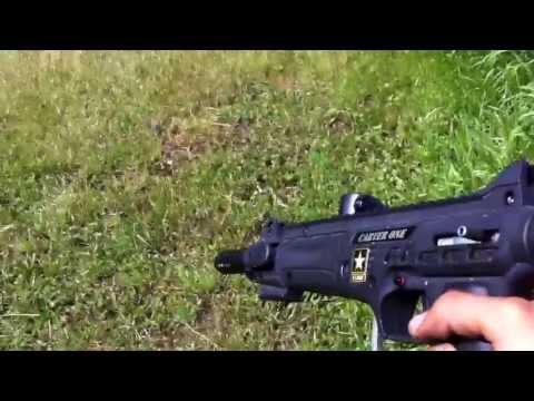 Tippmann U.S. Army Carver One Shooting!!!