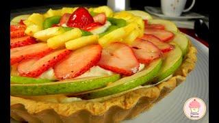 Pay De Fruta, Relleno De Crema Diplomata / Fruit Pie, Filled With Custard Cream