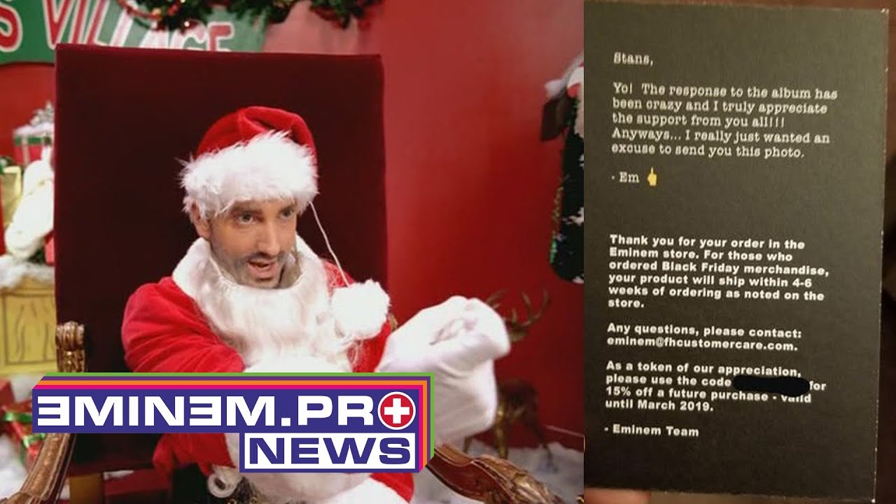 Eminem Is Sending Christmas Cards To Fans Youtube