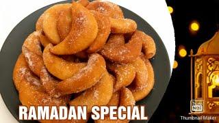 Ramadan Special RecipeCrescent Moon shaped Fried DoughnutsUrdu Recipe by Spark Of Taste