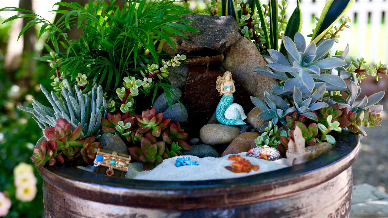 Lovely Beach Fairy Garden // Garden Answer   YouTube