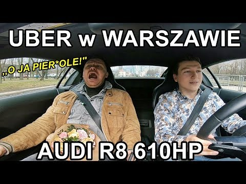 Reakcja Pasażerów Uber Na Auto Za 1.000.000 Zł! 610 HP AUDI R8