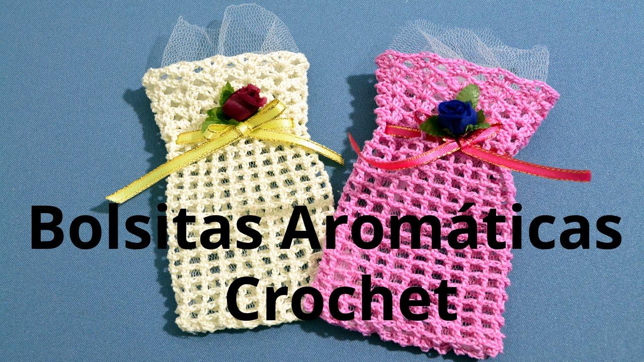 Como hacer una bolsita arom tica en tejido crochet o - Como hacer bolsos tejidos ...