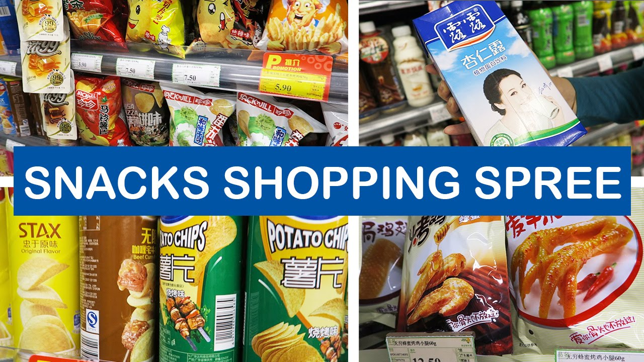 Snacks In A Chinese Grocery Store In Guangzhou  E B Bf E B E China Vlog