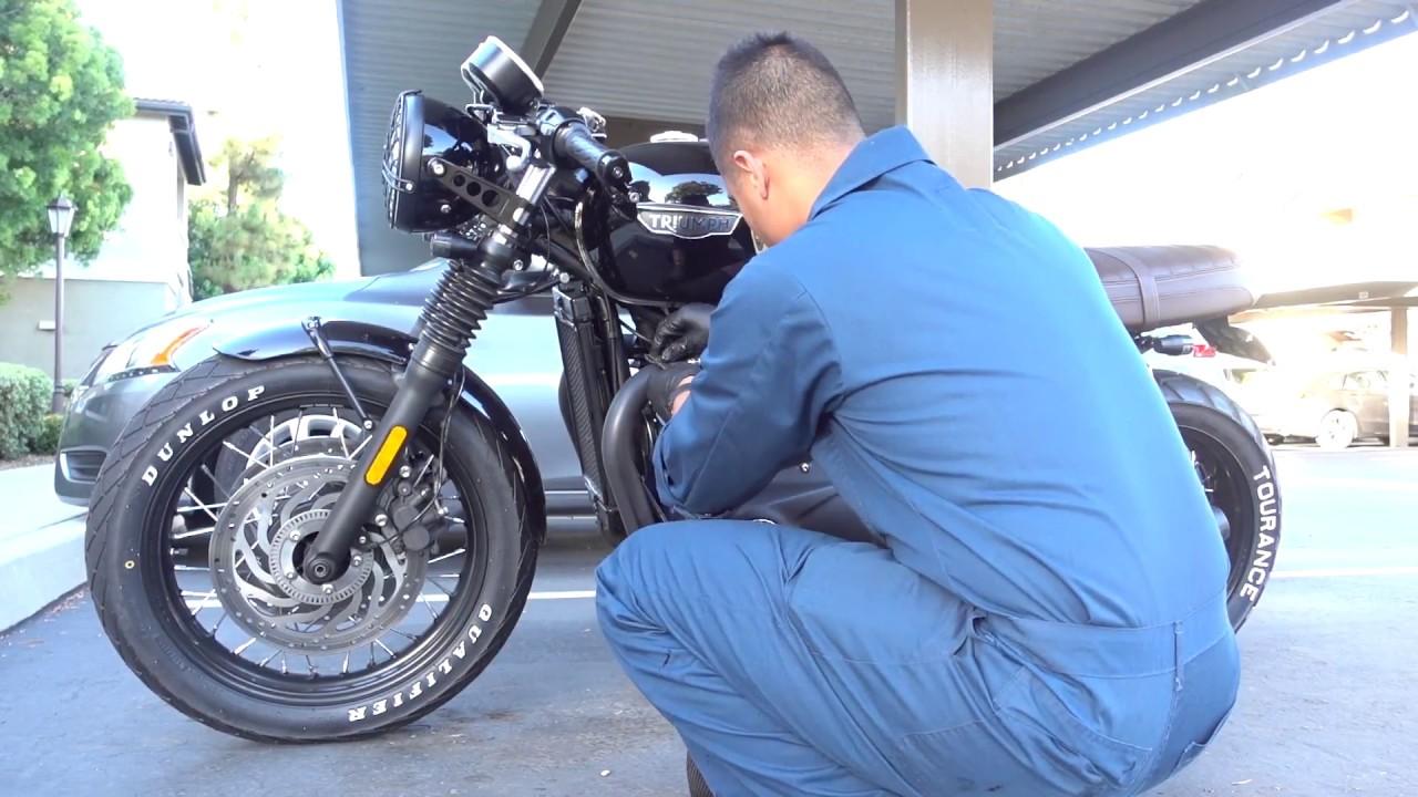 2018 bonneville t120 black exhaust pipe wrap