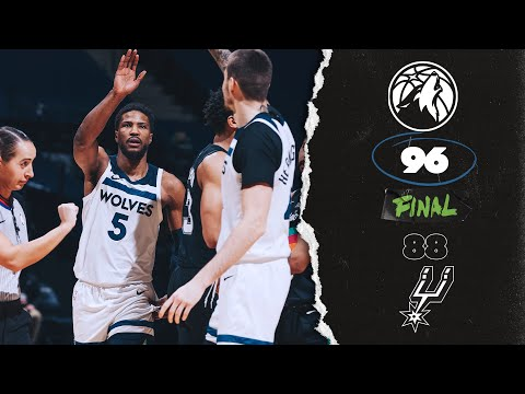 [HIGHLIGHTS] Minnesota Timberwolves 96-88 San Antonio Spurs - Timberwolves Youtube