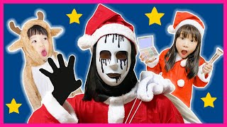 Christmas Song nursery Rhymes for kids from Yume and Rena | Makeup for Ghost Santa Claus