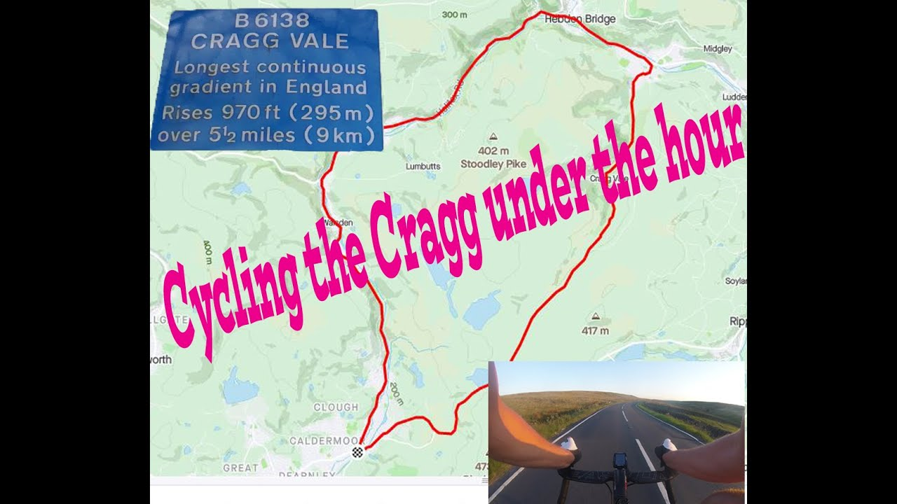 Cycling The Cragg Vale loop under the hour