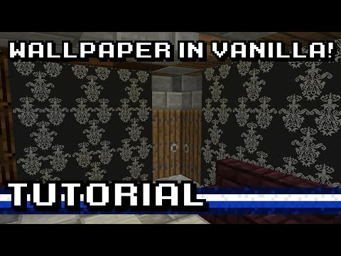How To Wallpaper Your Minecraft House! [Tutorial]