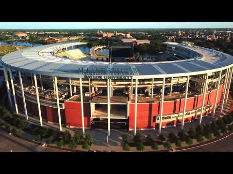 Waco, Texas By Drone - Downtown, River & Baylor Stadium