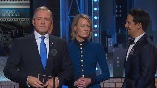 Frank Underwood crashes Tony Awards