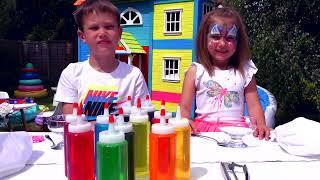 3 кольори топпінг і морозиво ЧЕЛлЕНдЖ або 3 colors ice cream topping CHALLENGE