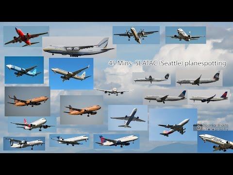 45 Mins+ 2016 Seattle USA SEATAC 1 hour planespotting