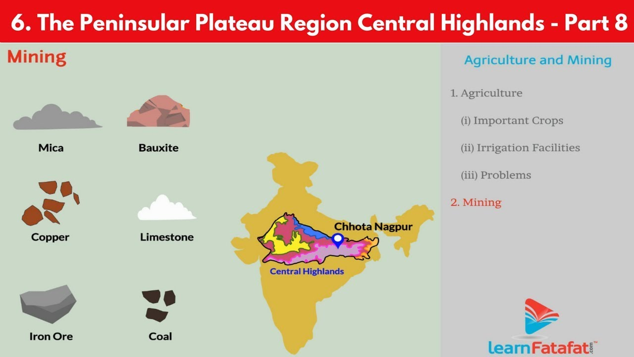 the peninsular plateau region central highlands std 10 geography ssc [ 1280 x 720 Pixel ]
