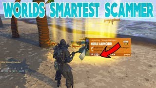 Worlds Smartest Scammer Scammed Himself (Scammer Gets Scammed) Fortnite Save The World