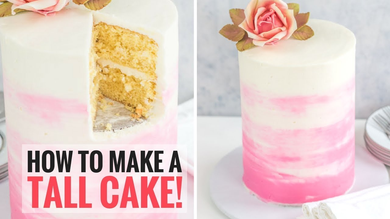 How To Make A Tall Cake Double Barrel