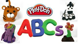 ABC play doh with animals, food, colors and fun! 2017