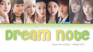 DreamNote 드림노트 39 DREAM NOTE 39 Color Coded Han Rom Eng Lyrics