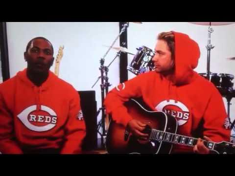Bronson Arroyo feat Aroldis Chapman Red Hooded Sweatshirt