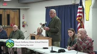 MAU School Board // 2020 Town Meeting - 3-2-20