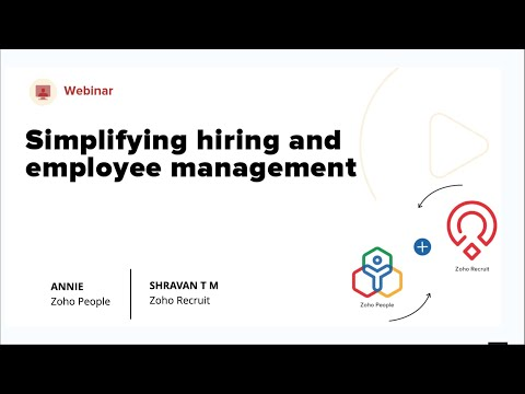 Simplifying recruitment and employee management with the new Zoho Recruit add-on