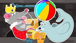 Lion Family 🎾 Rat's Lair King Play with Balls Cartoon for Kids