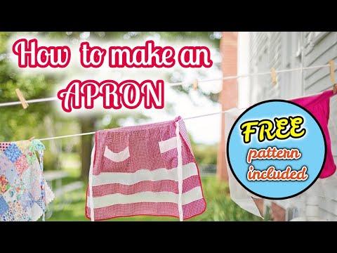 DIY ladies apron - with Free Pattern!
