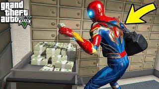 ЧЕЛОВЕК ПАУК ОГРАБИЛ БАНК НА 1.000.000$ В ГТА 5 МОДЫ! ОБЗОР МОДА В GTA 5 ВИДЕО MODS