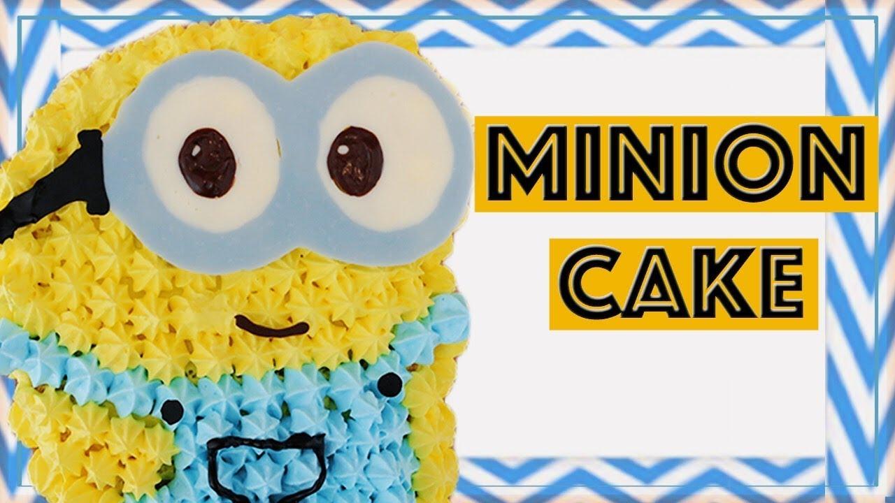 簡単ミニオンケーキの作り方3dケーキminion 3d Cakeボブver Youtube