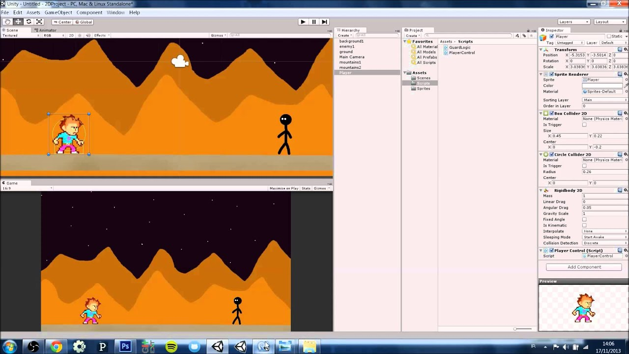 unity how to add projectile movement 2d