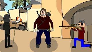 CS:GO Cartoon. Ungewöhnliche de_dust2