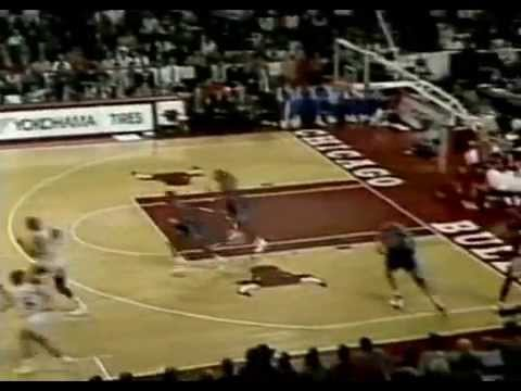 Michael Jordan Fakes Out Half Court Camera Man