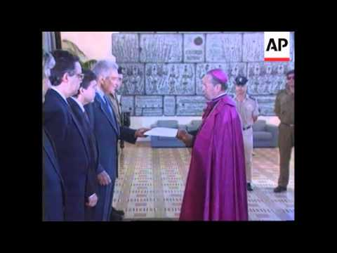 ISRAEL - Arrival Of First Vatican Ambassador