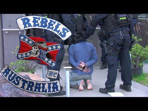 Rebels MC and Comanchero MC caught in massive police raids in Australia