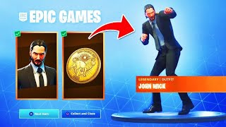 "RE-RESURCE NEW FREE RECOMPENSES - NEW SKIN ""JOHN WICK"" on FORTNITE!"