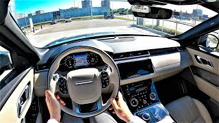 Land Rover VELAR (HSE) 300HP - AMAZING car quality! POV Test Drive. Velar GoPRo driving.