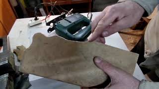 Электро лобзик с пилками превратят кусок фанеры в изделие