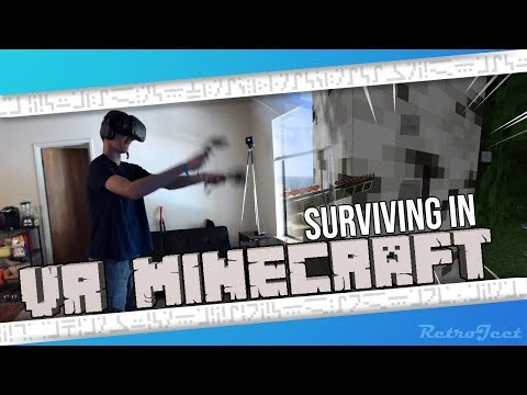 Building a house in VR Minecraft!