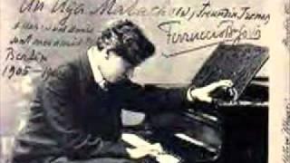 Ferruccio Busoni plays Liszt Fantasie on Themes from Bellini